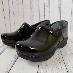 Dansko Clogs Shoes XP 2.0 Black Patent Leather NEW